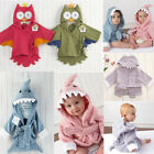 Cute Lovely Animal Pattern Owl Hippo Hooded Bathrobes Bath Towel Baby Kid Gift