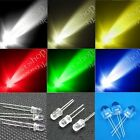 50 - 1000pcs 3mm 5mm 10mm round top Waterclear super bright LED lamp DIY