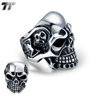High Quality TTstyle 316L Stainless Steel Skull Ring Size 6-15 (RZ11)