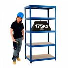 Garage Shelving Storage 5 Level Racking Shed Warehouse 175kg Boltless Shelves