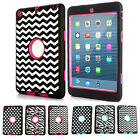 Silicone ShockProof Military Hybrid Polka dot Case Cover For Apple iPad Mini 2