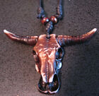 Cow / Bull Ox Head Skull Pendant Country Western Charm Necklace cattle skeleton