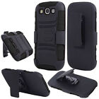 BLACK Super Defender Combo Holster for Samsung Galaxy S3 SIII