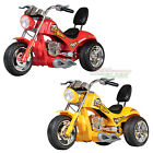 New 12V Electric Kids Twin Motor Red Hawk Ride On Bike Motorbike Chopper Trikes