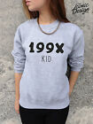 * 199X Kid Jumper Top Sweater Sweatshirt Fashion Tumblr 90's 1990's Dope Fresh *