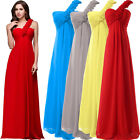 Charming Sexy Chiffon Long Formal Prom Party Bridesmaid Evening Prom Gowns Dress