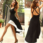 Cool Women's Casual Summer Spring Sleeveless Dovetail High-Low Party Party Dress
