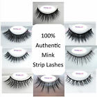 Luxury Authentic Real MINK Fur Eyelashes 100% Genuine Strip Lashes Super Soft