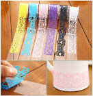 DIY waterproof Gift Book Plastic Hollow Lace Decorative Sticker Adhesive Tape