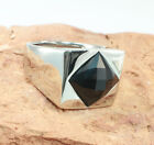 Men's Ring, Stainless Steel, Onyx -  Size 9/10/11/12