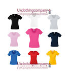Fruit Of The Loom Lady-Fit V-Neck Valueweight t-shirt  - Womens Ladies tops