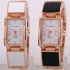 2 Colors Gold Srap Band Black And White Crystal Wristband Womens Watches