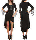 NEW Disney MALEFICENT Black Corset HI-LO Dress Long Lace Bell Sleeves Hot Topic