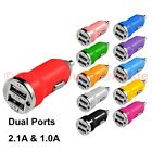 One Dual Port(2.1A,1.0A) Car Charger for iPhone/iPad; Galaxy S7 S6 Edge/Note