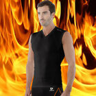 F [Tesla] Mens Compression HOTGEAR Base Layer Black Thermal Sleeveless V25BB