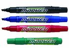 4 x PERMANENT MARKER CHISEL TIP - Writes a 2.5 to 7mm Line by Zebra