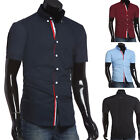 Black/White/Wine Red/Navy Blue/Light Blue Men's Fashion Shirt Tops Blouse Tee