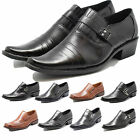 MENS OFFICE FORMAL SLIP ON SHOES EVENING WEDDING ITALIAN DRESS WORK PARTY  BOYS