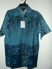 NEW OCEAN PALMS  hawaiian shirt  by SUN & MOON  sz M or S
