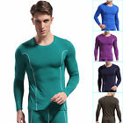 Stretchy Stylish Men's Thermal Underwear Bamboo Fiber Long sleeve smooth Shirts