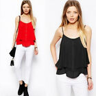 Womens Fashion V Neck Strap Sleeveless Sexy Vest T-Shirt 2 Colors R879