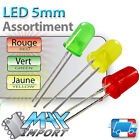 LED 5mm Assortiment : rouges + vertes + jaunes - Lots multiples, prix dégressif