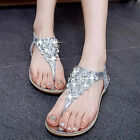 Hot New Summer Women Roman Flip-Flops Sandals with Diamond Flat Ladies Shoes