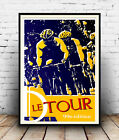 Le Tour  :  Cycle race advertising Poster reproduction