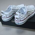 Genuine CONVERSE All-star low-top studed chain&skull Sneakers Sheos High-quality