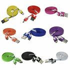 Micro USB Data Sync Charger Noodle Cable Cord 1M 2M 3M for Samsung Nokia Sony