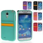 Soft Gel TPU Pouch Card Slot Back Case Cover For Samsung Galaxy S4 I9500