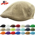 Внешний вид - Classic Mesh Ivy Newsboy Ivy Cap Hat Crochet Driving Golf Ventair Ivy NEW