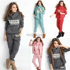 New 4 Colors Sports Hoodies Coat+Vest+Pants 3pcs Suit Tracksuit Womens Hooded