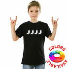FACORP - Kids Boys Decent Black Printed T-Shirts Casual Fruit of the Loom Cotton