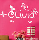 PERSONALISE Name with Butterflies Removable wall sticker for kids / Nursery