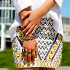 ZARA MULTICOLOUR EMBROIDERED SEQUIN BEADED AZTEC SKIRT SIZES S M BNWT BLOGGERS
