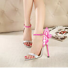 Elegant Ladies Butterfly Women Shoes High Heels Strappy Dress Sandals Size 4.5-9