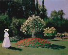 5499.Monet.Woman looking at tree in garden.POSTER.House decor Home Office art