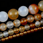 Natural  Agate Gemstone  Round Loose Beads 16''  4mm 6mm 8mm 10mm 14mm