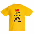 KEEP CALM AND GO TO CHINA - East Asia / Novelty / Flag Children's Themed T-Shirt