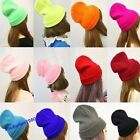 Winter Unisex Candy Color Hip-hop Ski Skull Cap Knit Hat Crochet Beanies Fashion