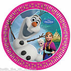 Disney FROZEN OLAF 19.5cm Paper Plates Girls Boys Party Supplies Tableware