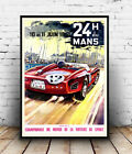 24 H du Mans  : Vintage  Advertising  Poster reproduction