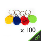 100 Pcs  RFID Tags/Tag/Keys/Key/ Proximity Staff Access Login ID Keyfobs 125kHz