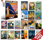 VINTAGE RETRO TRAVEL & RAILWAYS A4 Posters Old Style Home Art Print / Wall Decor
