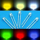3mm flat top led light super bright water clear lamp