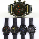Luxury Sport Mens Boys Wrist Quartz WATCHES Analog Big Display Rubber Band SH uk