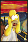 "THE SIMPSONS - FRAMED POSTER / PRINT (HOMER: THE SCREAM) (SIZE: 24"" X 36"")"