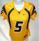 West Virginia Mountaineers Ladies Football Jersey Gold 5 *Kids Fit*