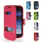 View Window Leather Flip Wallet Pouch Cover Case For Samsung Galaxy S Duos S7562